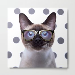 Geometry Class Kitty Metal Print