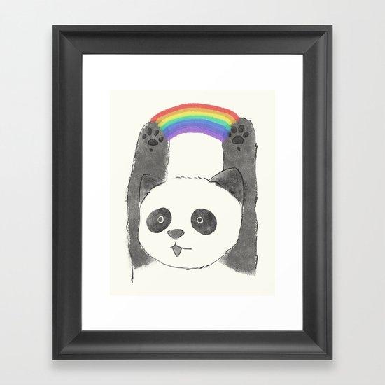 panda beam Framed Art Print