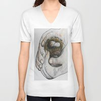 gift card V-neck T-shirts featuring God's Greatest Gift by EloiseArt