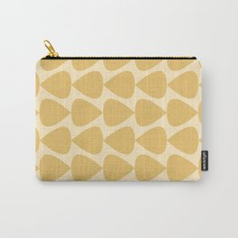 Plectrum Pattern in Pale Mustard Yellow Monochrome Carry-All Pouch