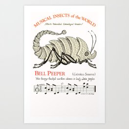 Bell Peeper (Celestas Sonorus)  Musical Insects of the World Art Print