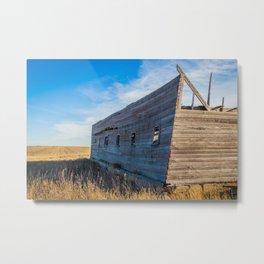 Roofless Barn, Backroads Farmstead, Valley County, MT Metal Print