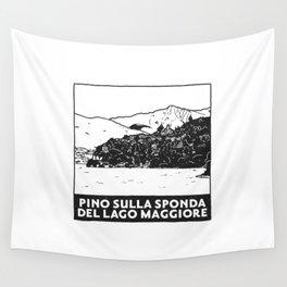 Pino sulla sponda del Lago Maggiore, Italy Wall Tapestry