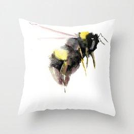 Bumblebee, bee art, bee design Throw Pillow