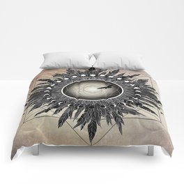 Crow Twilight Dreamcatcher Comforters