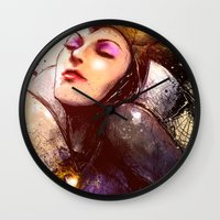 evil Wall Clocks featuring Evil Queen by Vincent Vernacatola
