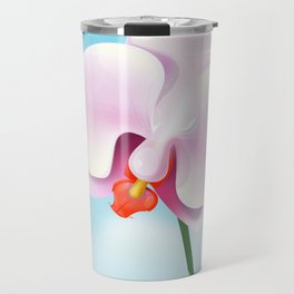 Ecuador Orchid travel poster print, Travel Mug