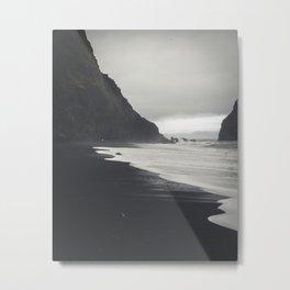 Black Sands Metal Print