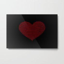ASCII heart C64 Metal Print