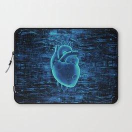 Gamer Heart BLUE TECH / 3D render of mechanical heart Laptop Sleeve