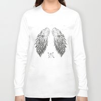 wings Long Sleeve T-shirts featuring wings by Julia