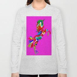 Watercolor unicorn-Light purple Long Sleeve T-shirt