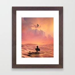 The Lost Swimmer Framed Art Print