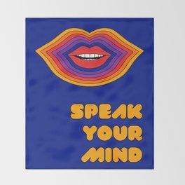Speak Your Mind Throw Blanket