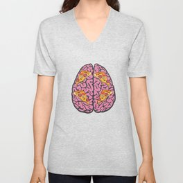 Problem Solving or Brainstorming Tshirt Design Left and right brain ideas Unisex V-Neck