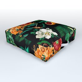 Fruit and Floral Pattern Outdoor Floor Cushion