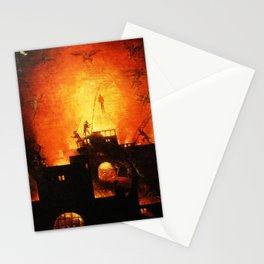 The flaming infurno Stationery Cards