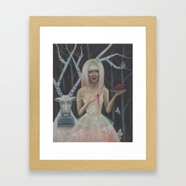 In The Birch Trees- Print Version Framed Art Print
