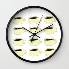 ME AGAINST THE MORNING Wall Clock