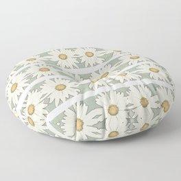 White Daisy Floor Pillow