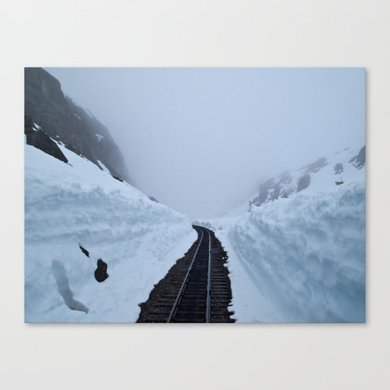 The winter pass Canvas Print