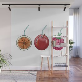 fresh fruit and cocktail rolls Wall Mural