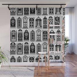 Moroccan Doors – Black Palette Wall Mural