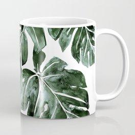 Jungle Monstera Leaves Coffee Mug