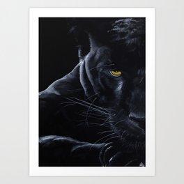 La Panthère Noire Art Print