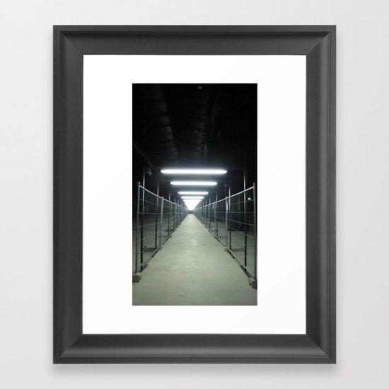 """A passage (Milan) """"A SAFE PLACE"""" series Framed Art Print"""
