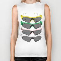 tour de france Biker Tanks featuring Tour de France Glasses by Pedlin