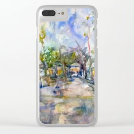 streetview  3 Clear iPhone Case