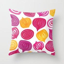Spring Beet pattern Throw Pillow