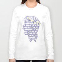 fangirl Long Sleeve T-shirts featuring Professional fangirl Tyler Oakley by ElectricShotgun