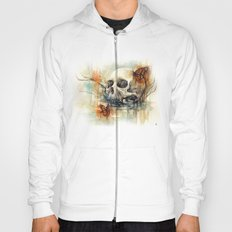 watercolor skull Hoody