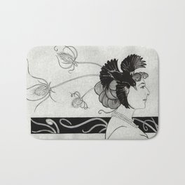 Passerine (Mata Hari with teasel) Bath Mat