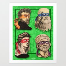 Renaissance Mutant Ninja Artists Art Print