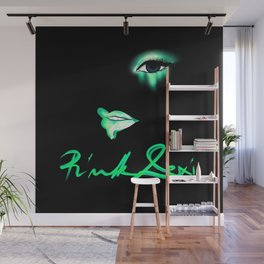 Pink Lexi Electric Green Wall Mural