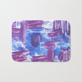 Royal purple abstract watercolor Bath Mat