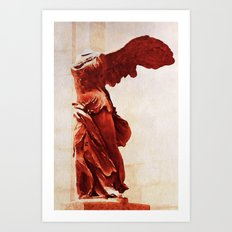 Winged Victory In The Louvre Art Print