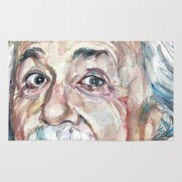 ALBERT EINSTEIN - watercolor portrait Rug