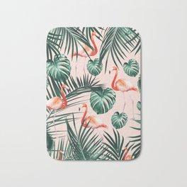 Tropical Flamingo Pattern #2 #tropical #decor #art #society6 Bath Mat