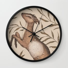 The Goat and Willow Wall Clock