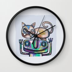Juggler with Cat Wall Clock