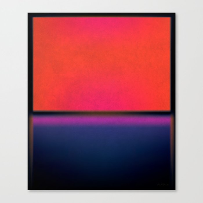 After Rothko Tall 5 Canvas Print