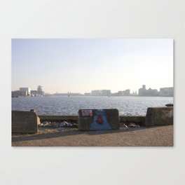 Harbour views from Amsterdam North Canvas Print