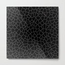 staklo (black with dark olive) Metal Print