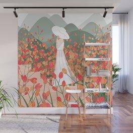 Plant Girl #7 Wall Mural
