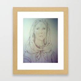 St. Dymphna Framed Art Print