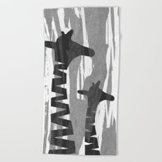 Unique Abstract Giraffe Family Beach Towel